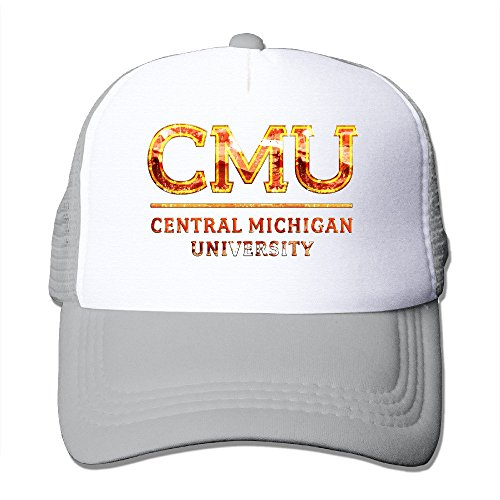 XSSYZ Central Michigan University Seal Trucker Hat Mesh Cap Ash