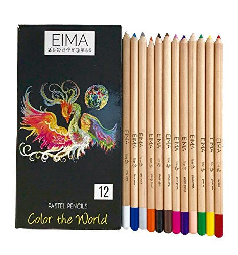 (Pastel Colored Pencils Box Set of 12 by EIMA)