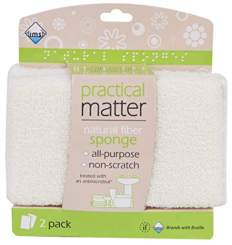 IMS Trading Natural Fiber Sponge, 2 Count