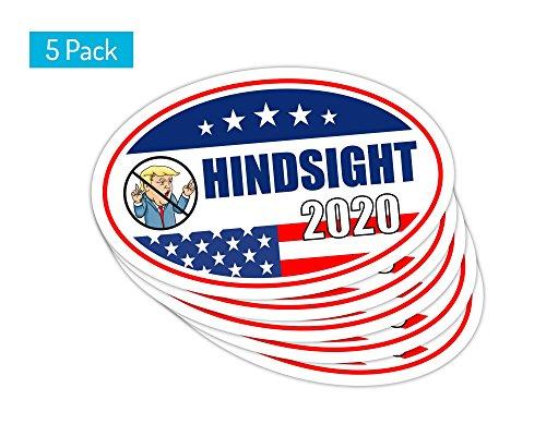 StickerPirate 5 PackOval Car Magnet Trump 2020 Hindsight Dump Trump A TO417