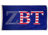 Zeta Beta Tau USA Pattern Letter Fraternity Flag Banner 3 x 5 Feet Sign Decor ZBT Review