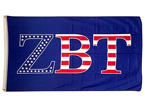 Zbt Band - Zeta Beta Tau USA Pattern Letter Fraternity Flag Banner 3 x 5 Feet Sign Decor ZBT
