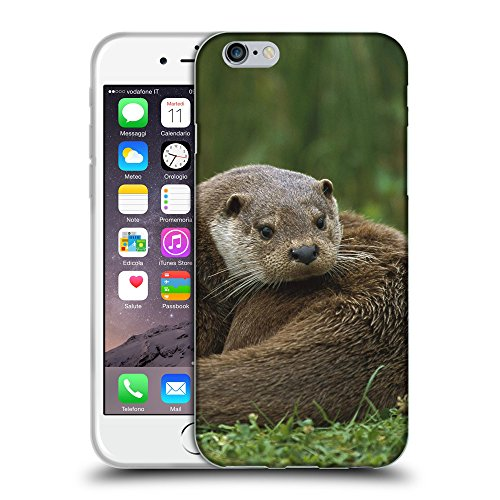 Just Phone Cases Coque de Protection TPU Silicone Case pour // V00004167 bêtes loutre se trouve sur une herbe // Apple iPhone 6 6S 6G PLUS 5.5""