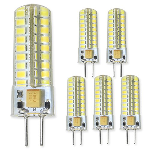 GY6.35 LED Light Bulb 5 Watts 12 Volt G6.35/GY6.35 Bi-Pin Base 50W Halogen Replacement Bulbs.Non-Dimmable,Daylight 6000K (Pack of 5) Please Look at The Description firstly and Then Purchase.