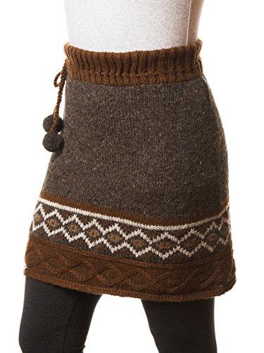 Everest Designs Women's Gemstone Skirt, Brown, X-Large