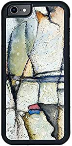 Decalac iPhone 8 Case, Design Of A Watercolour And Ink Painting Of Rocks On A Beach