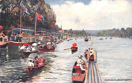 Henley Regatta (Houseboats, Henley Regatta United Kingdom, Great Britain, England Postcard)