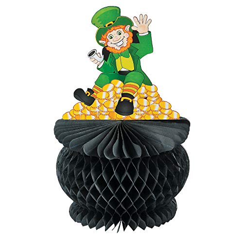 Fun Express - St Pats Pot Of Gold Tissue Centerpiece for St. Patrick's Day - Party Decor - General Decor - Centerpieces - St. Patrick's Day - 1 Piece