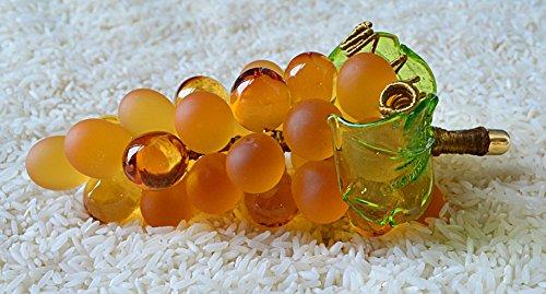 Murano Glass Grape Cluster, Large, Gold Via Graceffo GR/32/Gd