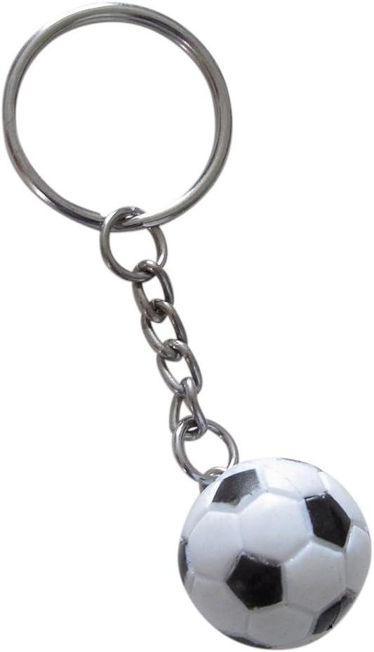 LLavero pelota de futbol blanco y negro.: Amazon.es: Equipaje