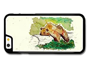 AMAF ? Accessories Bear Resting on a Trunk Tree Wildlife Animal Watercolour Art case for iPhone 6