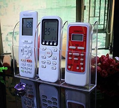 Ivosmart Wall Mount Acrylic TV Remote Control Mobile Phone Storage Holder Media Organizer Caddy