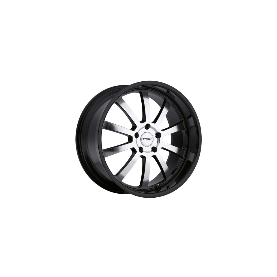 TSW Willow 17 Black Wheel / Rim 5x4.5 with a 20mm Offset and a 76 Hub Bore. Partnumber 1780WIL205114B76