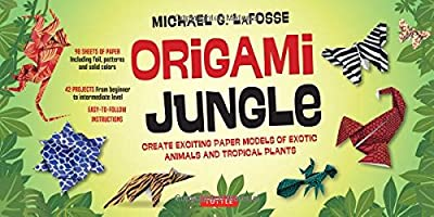 Origami Jungle Kit: Create Exciting Paper Models of Exotic Animals and Tropical Plants [Origami Kit with 2 Books, 98 Papers, 42 Projects]