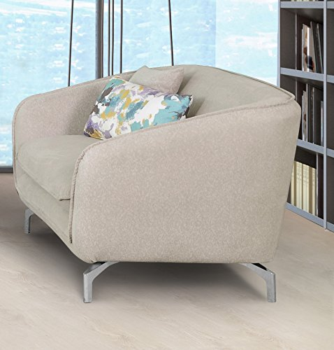 Container Furniture Direct Modern Metropolitan Linen Fabric Upholstery Loveseat only (Beige)
