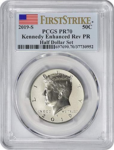 (2019 S Apollo 11 50th Anniversary Commemorative Enhanced Reverse Proof Kennedy Half Dollar, First Strike, Flag Label PR70DCAM PCGS)