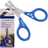 Cat Nail Clippers - Easy to Use Professional Stainless Steel Claw Trimmer for Cats and Small Pet