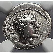 1000 IT Roman Republic 89BC Rome CATO Quinarius Authentic VF Good NGC