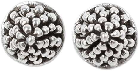 NOVICA .925 Sterling Silver Stud Earrings 'Shining Berry'