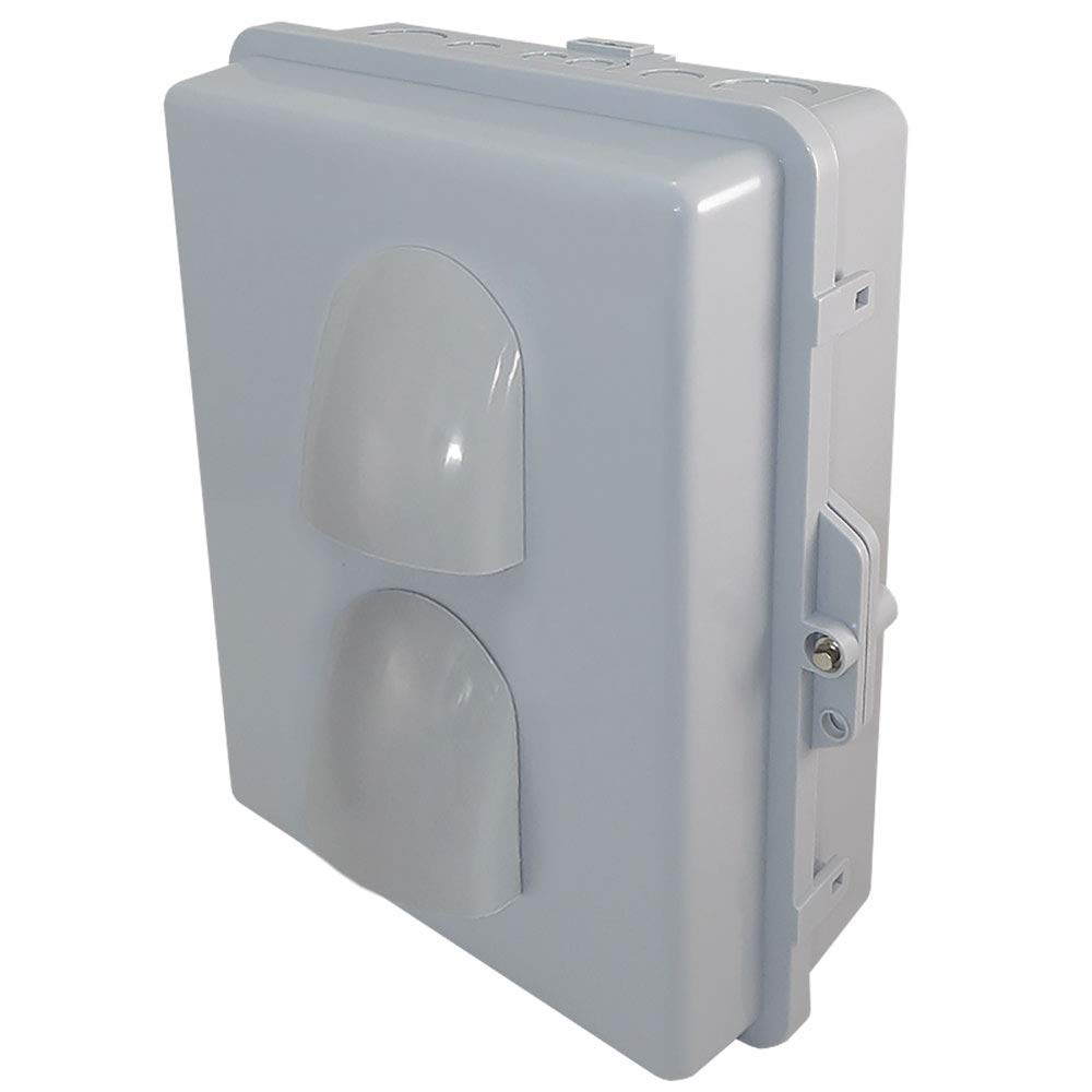 Altelix Vented NEMA Enclosure (12'' x 8'' x 3.2'' Inside Space) Polycarbonate + ABS Weatherproof NEMA Box with Aluminum Equipment Mounting Plate by Altelix (Image #3)