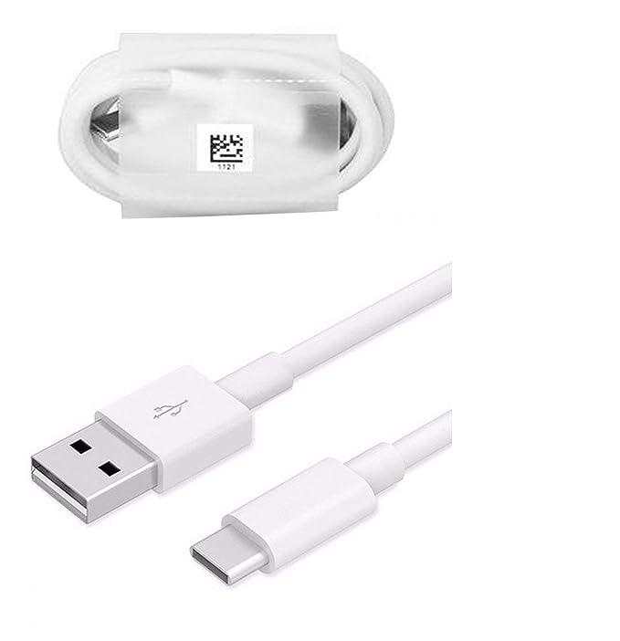 Huawei Cable de datos tipo C - USB A BLanco para Huawei P9, Huawei P9 Plus, Huawei P10, Huawei P10 Plus y otros modelos Huawei tipo C (no embalaje al ...