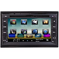 KKmoon Universal 6.2 HD Touch Screen 2 Din Mirror Link Connect Android Cellphone in Dash Car DVD/USB/SD Player 3G WiFi Bluetooth GPS Navigation Radio HD Car Entertainment System