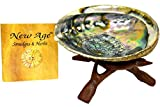 New Age Smudges and Herbs Abalone Shell 5-6″ & 6″ Wooden Tripod