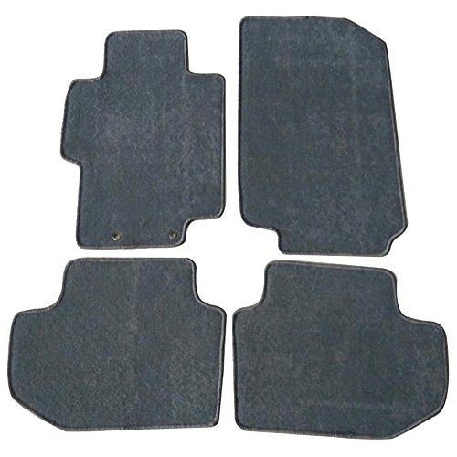 Floor Mat Fits 2003-2007 Honda Accord | Front & Rear Gray 4PC Nylon Car Floor Carpets Carpet liner by IKON MOTORSPORTS |  2004 2005 2006