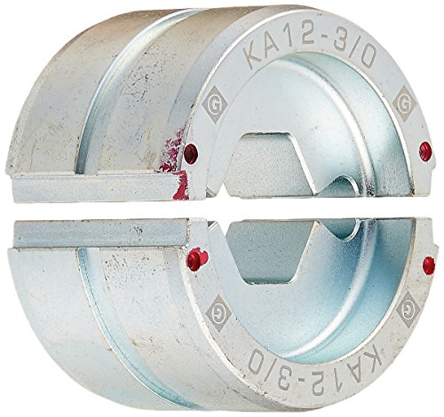 Greenlee KA12-3/0 Crimping Die for Greenlee 12-Ton Tools, Aluminum, 3/0 AWG