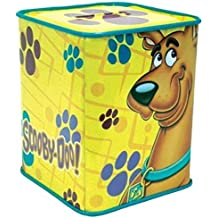 WL SS-WL-23313 Yellow Scooby-Doo Grinning with Paw Print Tin Bank, Multicolor