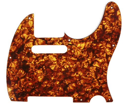 D'Andrea Pro Tele Guitar Pickguard, Orange Pearl