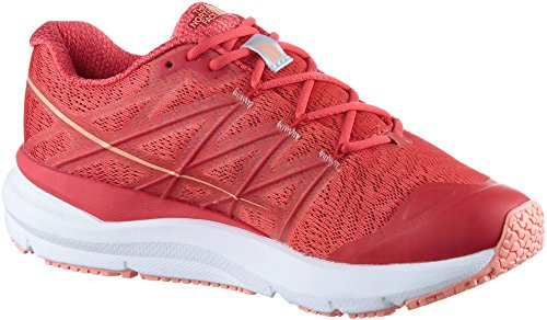 Le Visage Du Nord Womens Ultra Cardiaque Chaussures De Randonnée Ii Juteuse Rouge / Fleur Du Désert Orange