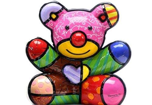 New Romero Britto Fun Bear Ceramic Authentic Figurine Sculpture Pop Art Teddy !! Ceramic Collectible Teddy
