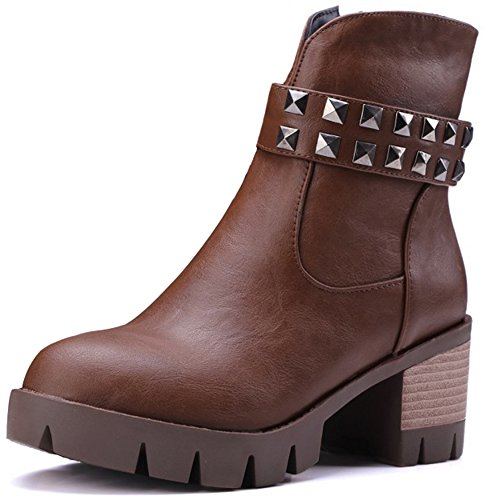 Summerwhisper Studded Booties Stacked Platform product image