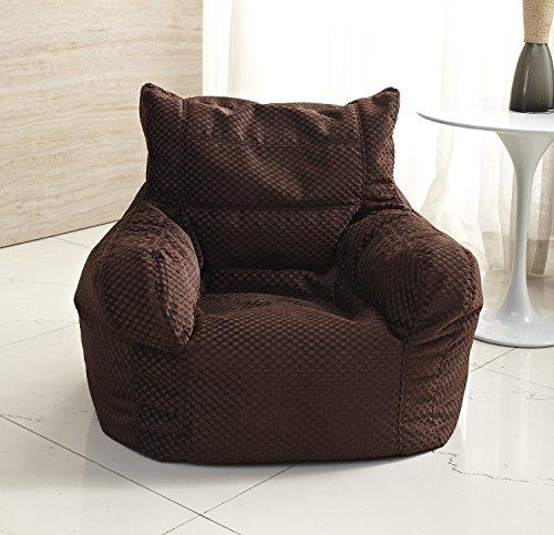Milton Greens Stars Small Corduroy Arm Chair Bean Bag, Dark ()