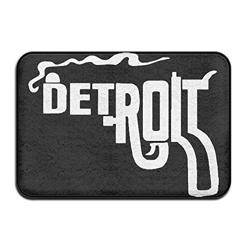 Detroit Tigers Floor Rug (Detroit Smoking Gun Indoor Outdoor Entrance Rug Non Slip Kitchen Rug Doormat Rugs For Home)