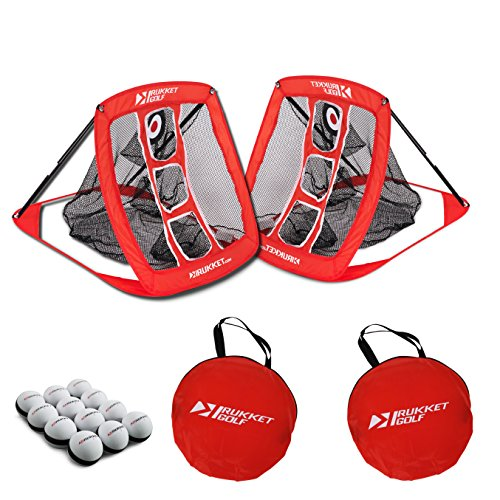 Rukket Skee Golf Chipping Game | Chip at Tailgate, Barbeque, Man Cave, Backyard, Beach | Practice Swing Cornhole Board Beer Pong Chipper Net