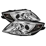 For 2003-2008 BMW E85 Z4 Coupe Halogen Type Chrome Clear Dual Halo Ring Projector Headlights Lamps Pair Set