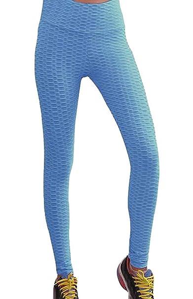 dahuo - Pantalones de Yoga para Mujer, con Textura, Cintura ...