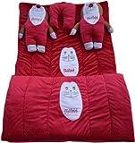 Royal Shri Om 3002BABY5pc Baby Velvet Bedding Set (5 Pieces, Red)