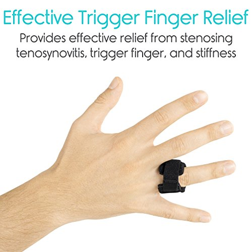 Vive Trigger Finger Splint - Support Brace for Straightening Curved, Bent,  Locked and Stenosing Tenosynovitis Hands - Tendon Lock Release Stabilizer