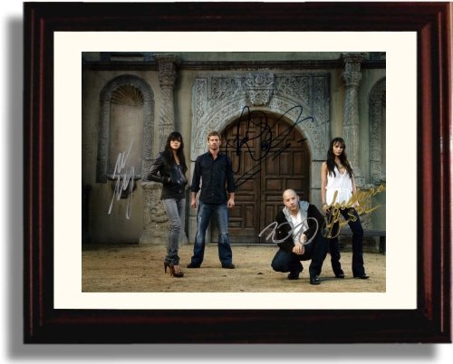 Framed Fast and Furious Autograph Replica Print - Fast and Furious Cast
