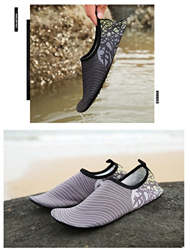 Fashion Quick Swimming for 47EU 34 Skin Shoes Shoes 3 Drying Gray Comfortable Slip Barefoot Water Socks Beach Unisex On Yoga tqgBffZ