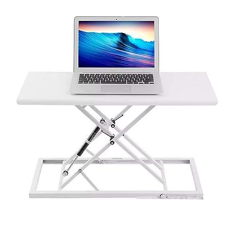 Uso de la oficina de escritorio Equipo ajustable sentado y de pie ...