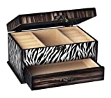 Sterling Home Wood Zebra Jewelry Box