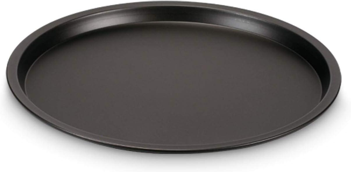 Guardini Pizza/&Mania Colore nero Acciaio con rivestimento antiaderente Set 4 Tegami Pizza /Ø32cm+1 Griglia Porta Tegami