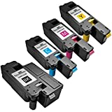 Speedy Inks - 4 Pack Compatible Xerox 6000/6010 Toner Cartridges 1x 106R1630 Black, 1x 106R1627 Cyan, 1x 106R1628 Magenta, 1x 106R1629 Yellow for use in Phaser 6000, Phaser 6010, Phaser 6010N, , WorkCentre 6015, WorkCentre 6015V/B, WorkCentre 6015V/N, & WorkCentre 6015V/NI by Speedy Inks