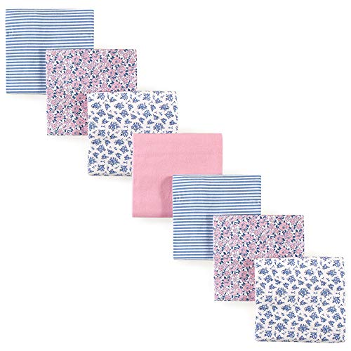 Hudson Baby Unisex Baby Cotton Flannel Receiving Blankets, 7-Pack, Classic Floral, One Size ()