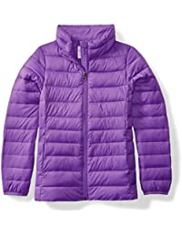 Girls' Lightweight Water-Resistant Packable Puffer Jacket