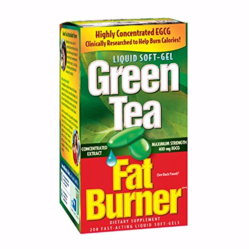 Green Tea Fat Burner Dietary Supplement 200 soft gels (Best Green Tea For Fat Loss)